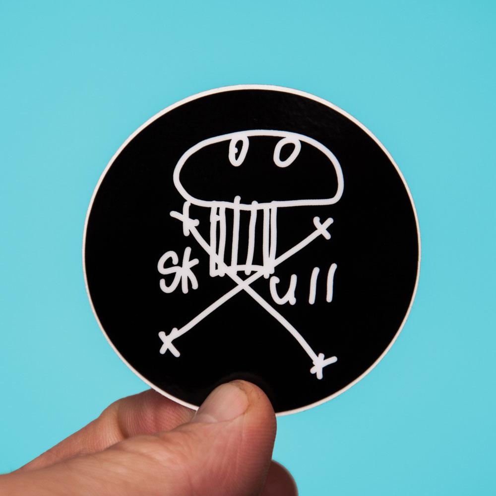 sticker-teal